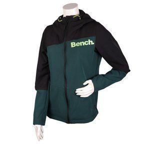 BENCH Hooded Jacket Green/Black Neon Sz S